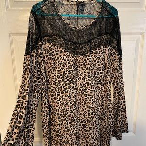 Torrid leopard print with lace